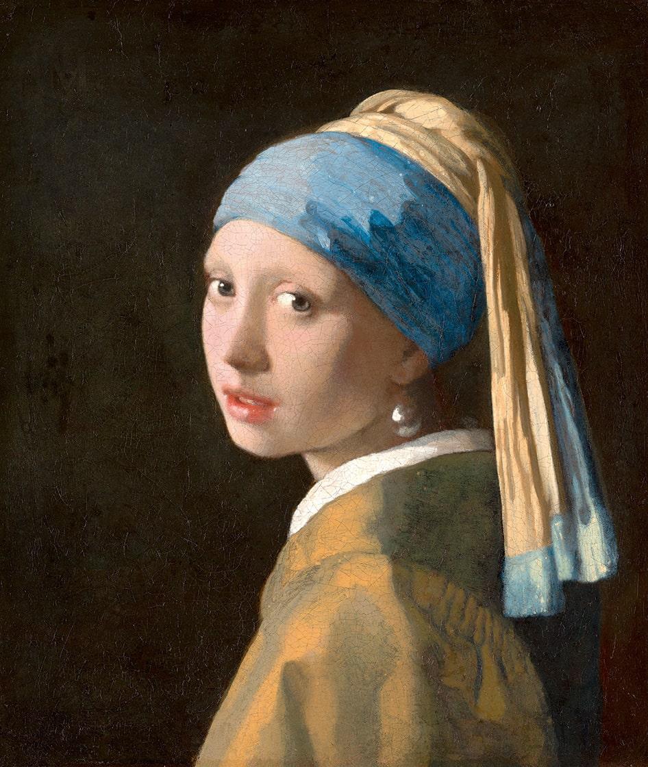 Jan Vermeer, La fanciulla con l'orecchino di perla, 1665 circa, L'Aja, Mauritshuis | Courtesy Mauritshuis, The Hague